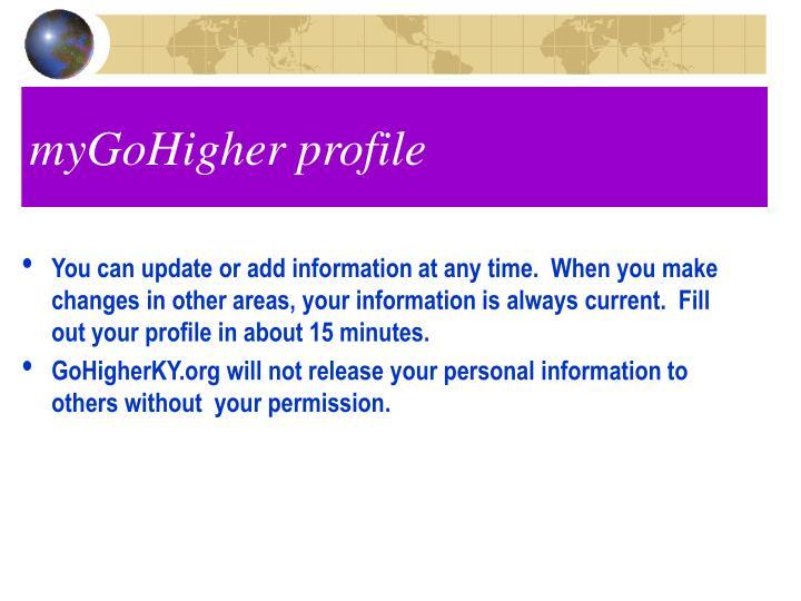 myGoHigher profile