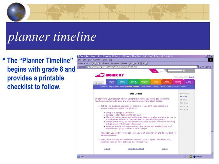 planner timeline