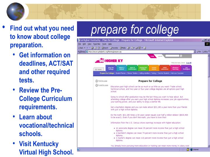 Find out what you need to know about college preparation.