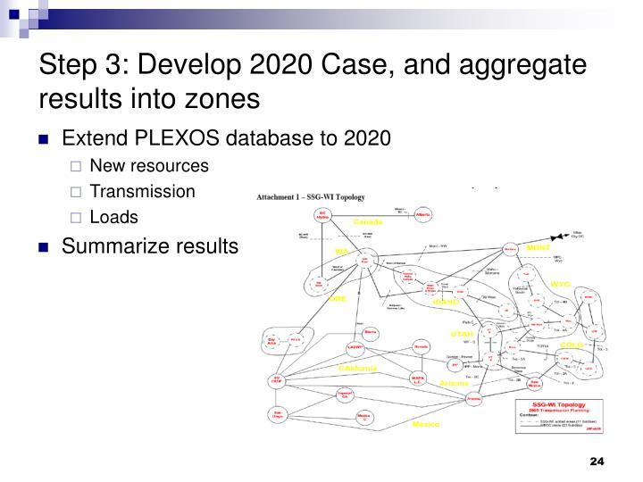 Step 3: Develop 2020 Case, and aggregate results into zones