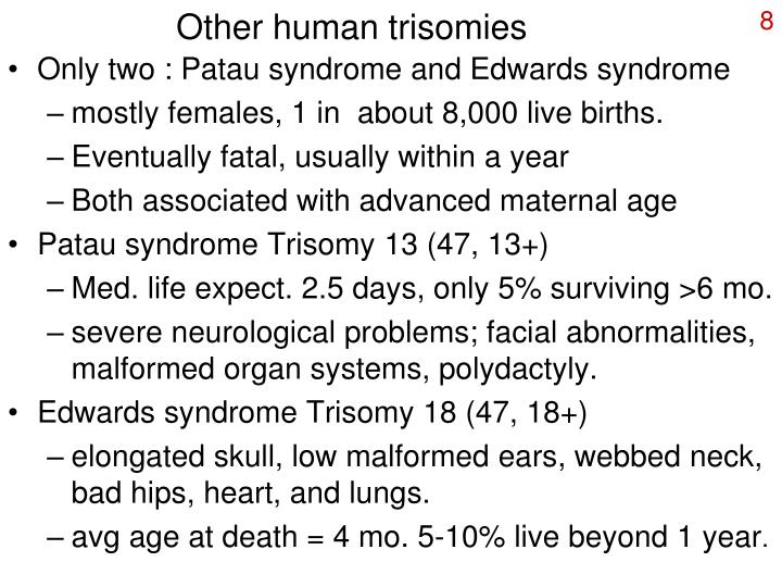 Other human trisomies