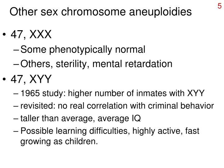 Other sex chromosome aneuploidies