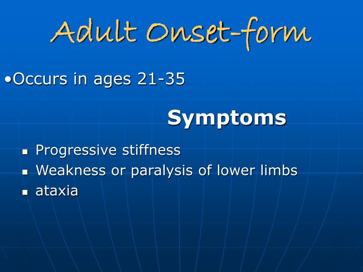 Adult Onset-form