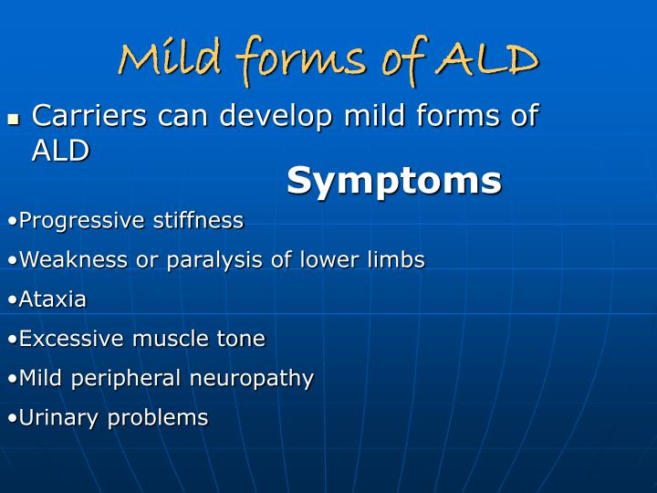 Mild forms of ALD