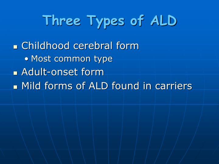 Three Types of ALD