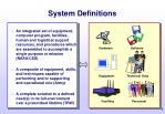 system definitions