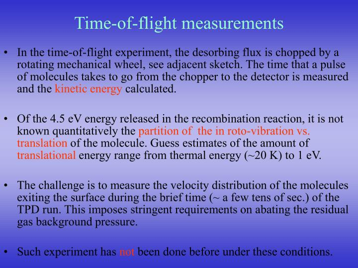 Time-of-flight measurements