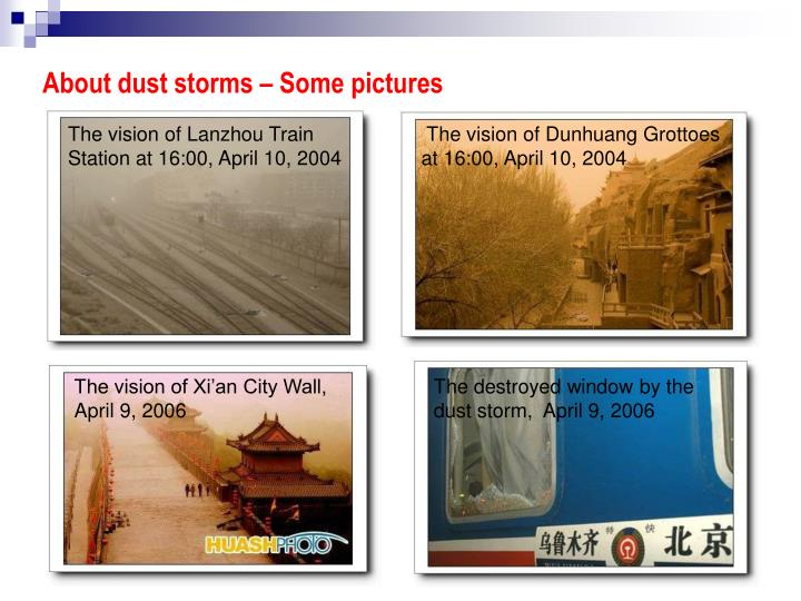 About dust storms – Some pictures