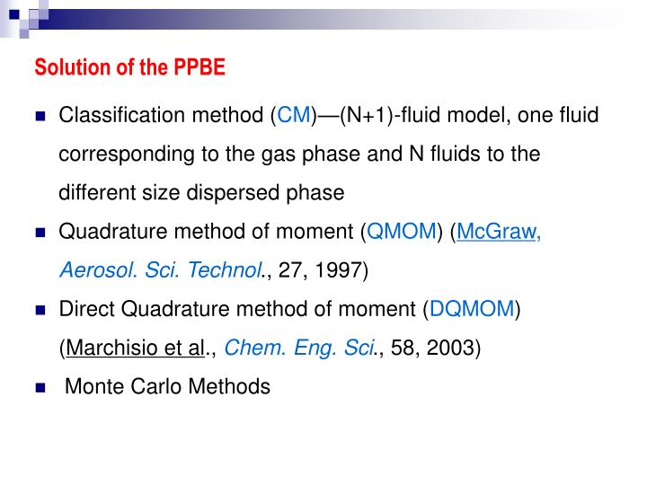 Solution of the PPBE