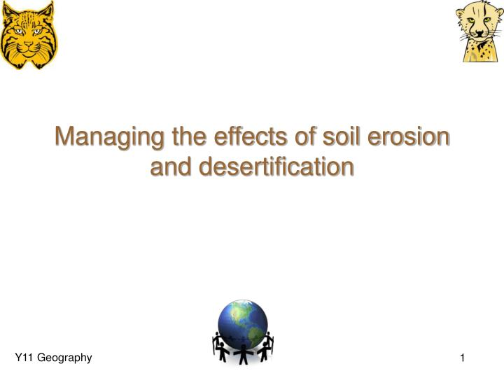 managing the effects of soil erosion and desertification n.