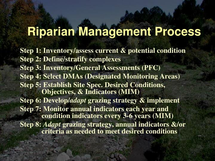 Riparian Management Process