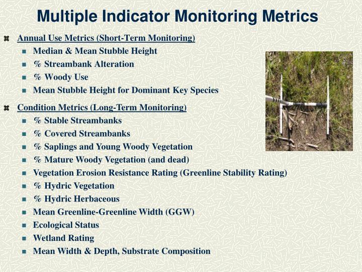 Multiple Indicator Monitoring Metrics