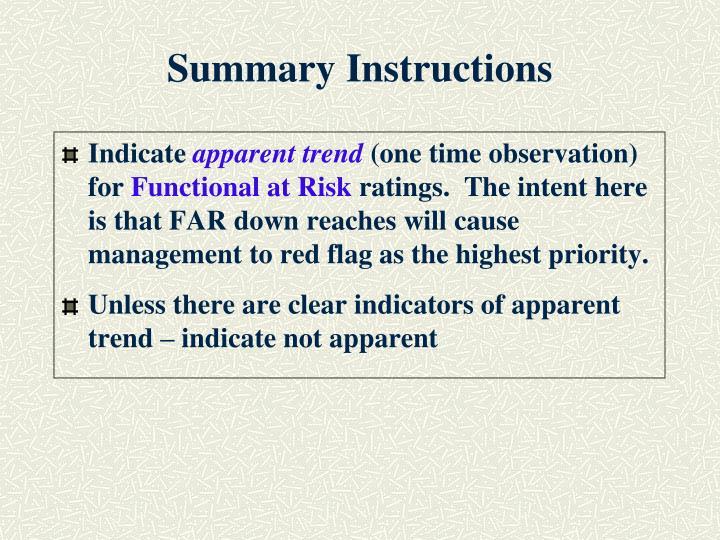 Summary instructions1