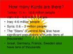 how many kurds are there