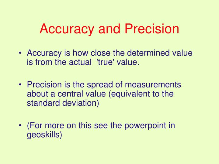 Accuracy and Precision