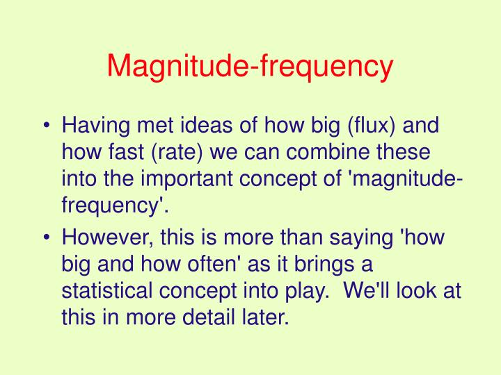 Magnitude-frequency
