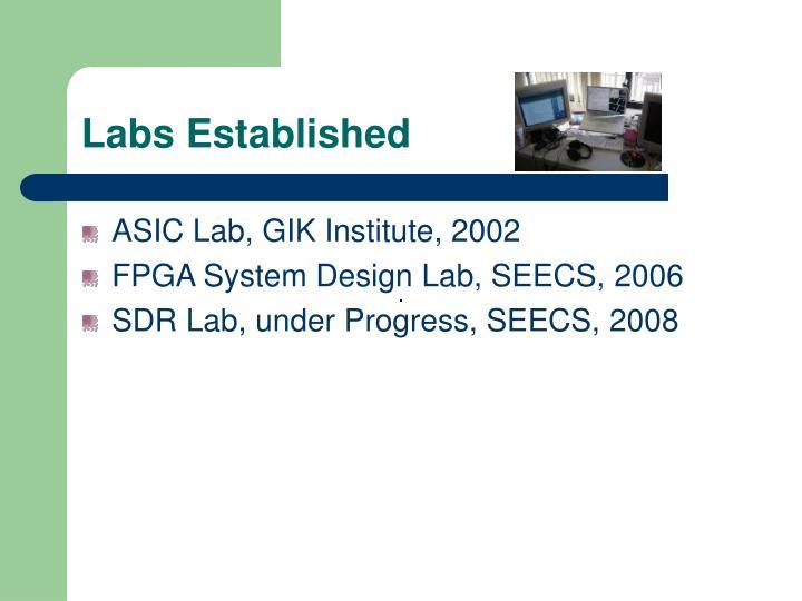 Labs Established