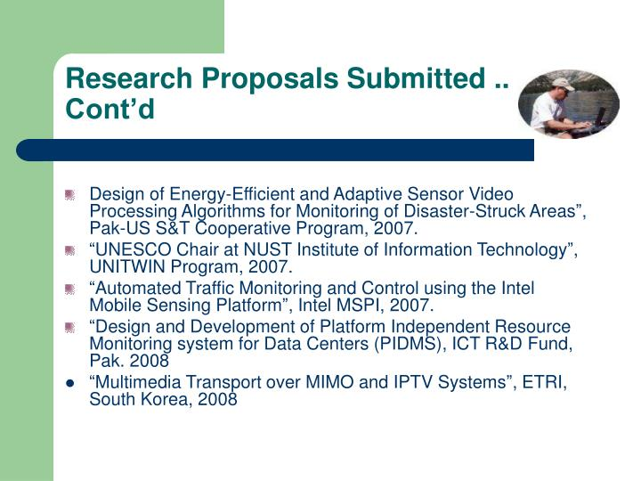 Research Proposals Submitted .. Cont'd