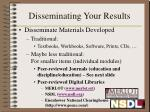 disseminating your results1