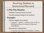 involving students in instructional research