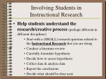 involving students in instructional research1