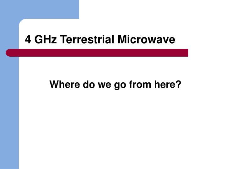 4 GHz Terrestrial Microwave