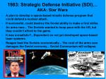 1983 strategic defense initiative sdi aka star wars