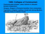 1989 collapse of communism