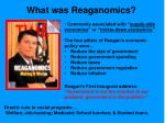 what was reaganomics