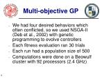 multi objective gp