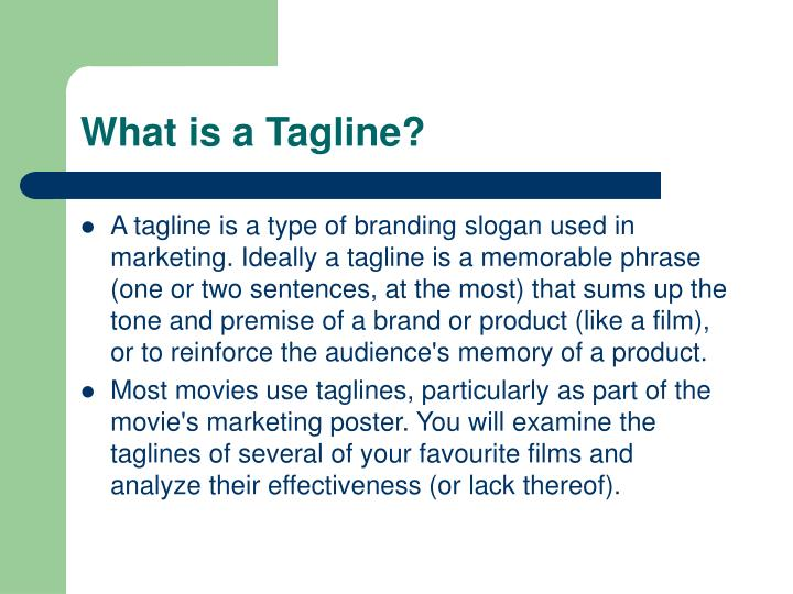 What is a tagline