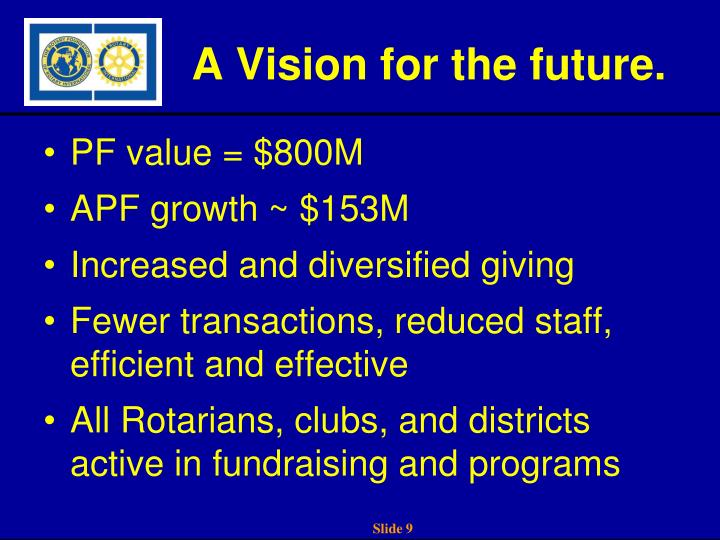 A Vision for the future.