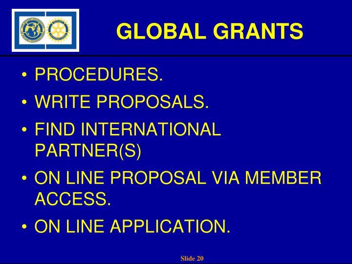 GLOBAL GRANTS