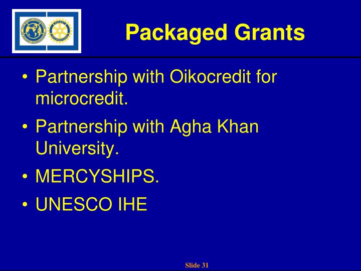 Packaged Grants