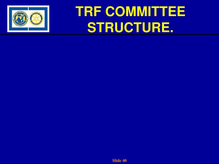 TRF COMMITTEE STRUCTURE.