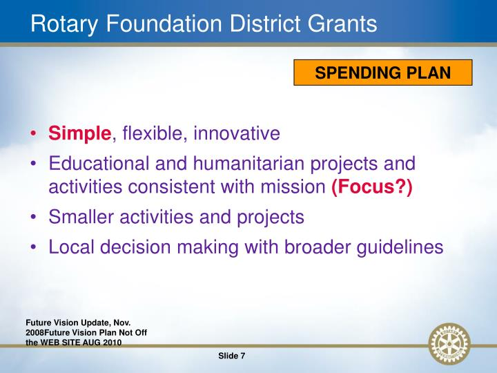 Rotary Foundation District Grants
