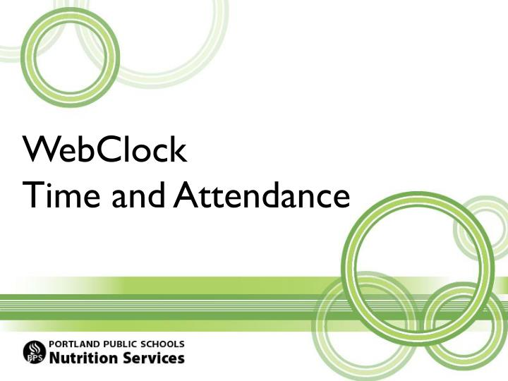 webclock time and attendance n.