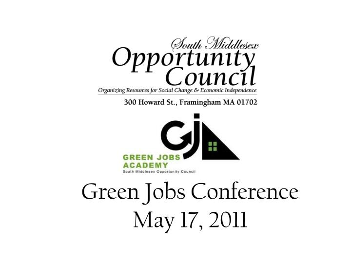 Green Jobs Conference