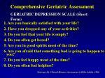 comprehensive geriatric assessment12