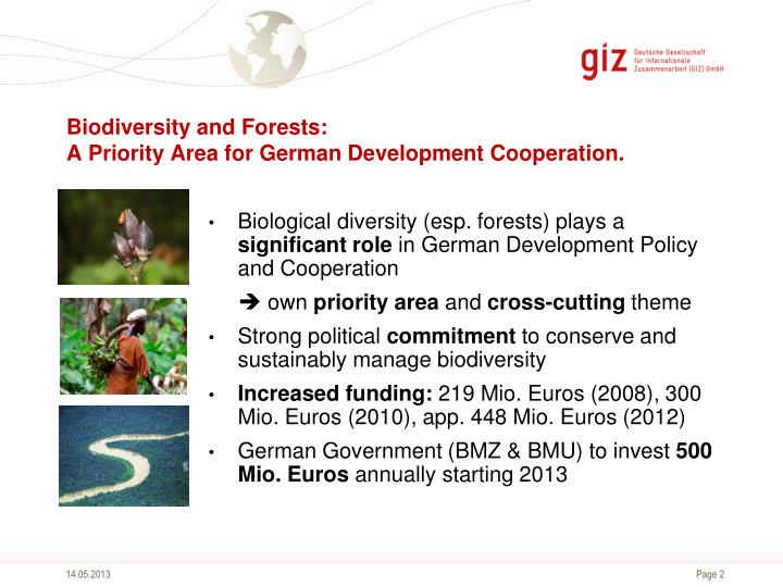 Biodiversity and forests a priority area for german development cooperation