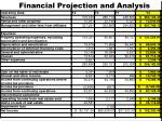 financial projection and analysis1