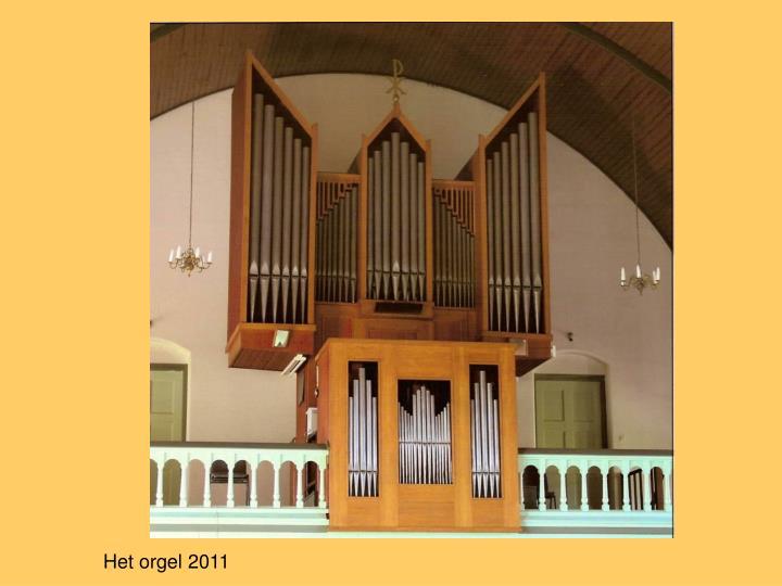 Het orgel 2011