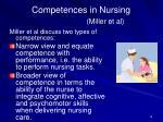 competences in nursing miller et al