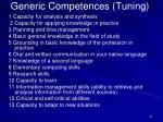 generic competences tuning