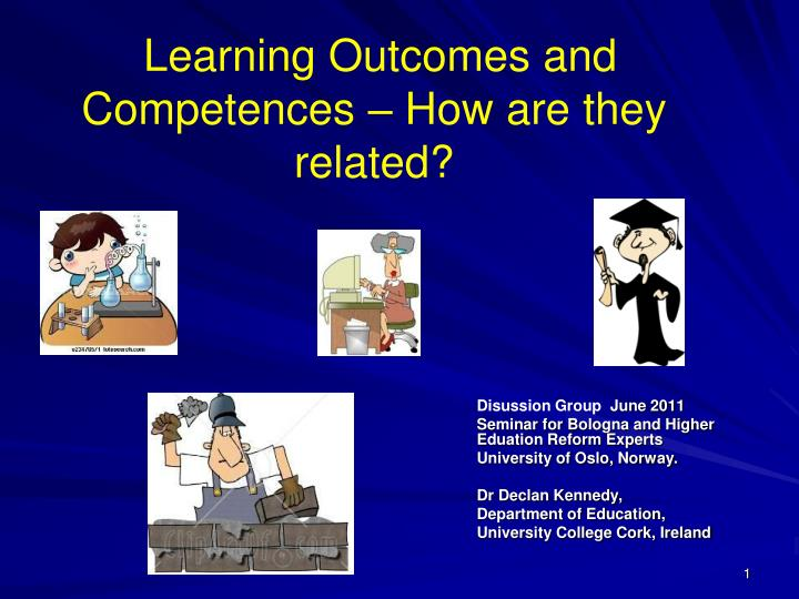 learning outcomes and competences how are they related n.