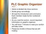 plc graphic organizer
