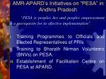 amr apard s initiatives on pesa in andhra pradesh