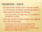 parameters cont d