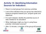 activity 14 identifying information sources for indicators