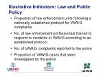 illustrative indicators law and public policy